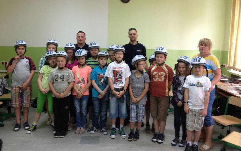 Jedź głową w kasku w Szkole Podstawowej nr 4 w Ozorkowie