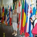 na tle flag 27 (jeszcze) państw Unii