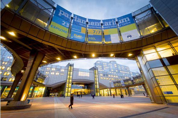 Europejski Rok Obywateli. Budynki Parlamentu Europejskiego w Brukseli