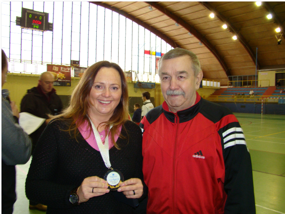 Joanna Skrzydlewska z medalem za zasługi na rzecz sportu