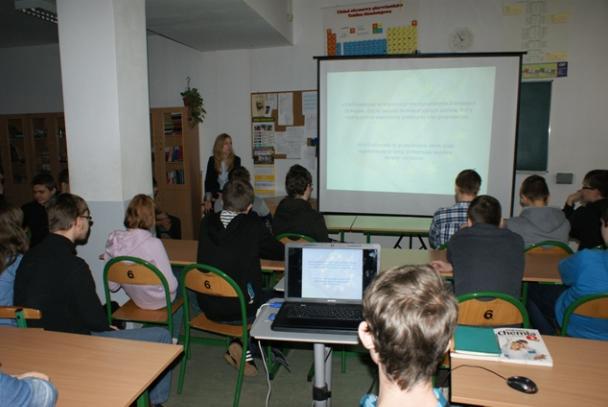 Eurolekcja w Publicznym Gimnazjum Integracyjnym w Łodzi