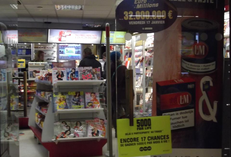 Kiosk w centrum Brukseli