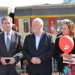 Prezentacja pociągów Łódzkiej Kolei Aglomeracyjnej