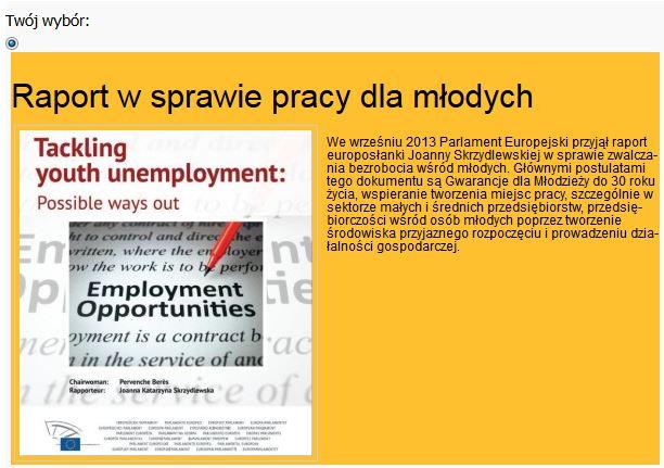 Raport w sprawie pracy dla młodych