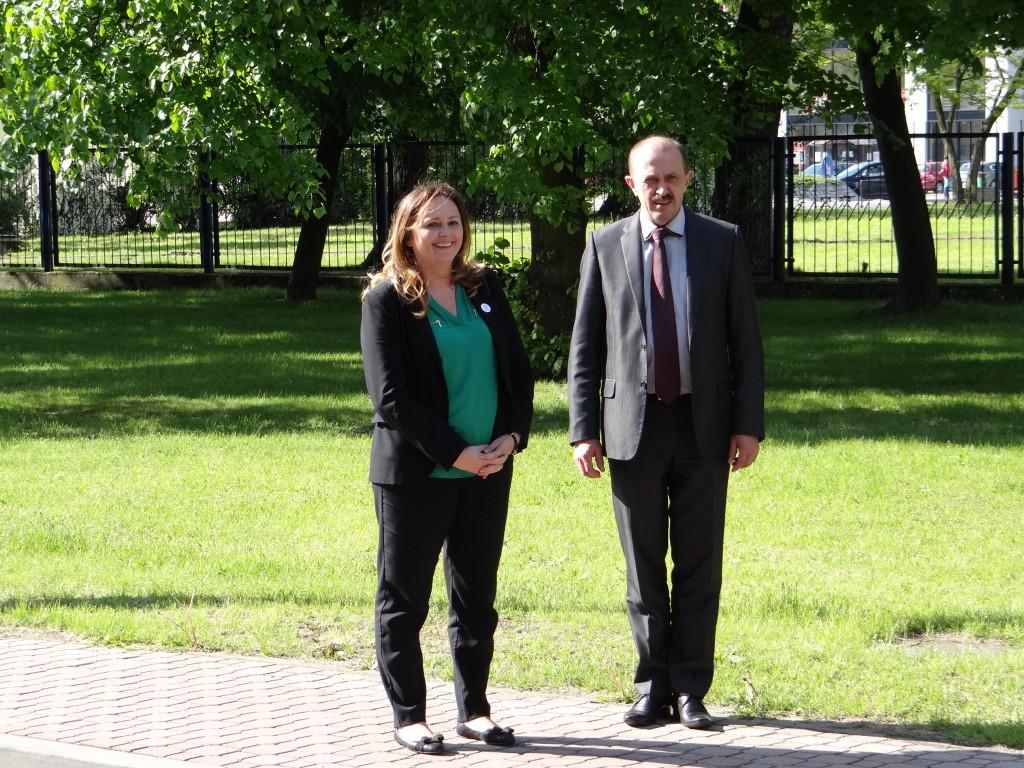 Joanna Skrzydlewska z wizytą w Tomaszowie