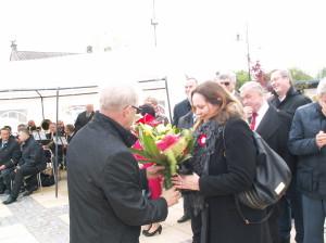Joanna Skrzydlewska na obchodach Święta 3 Maja