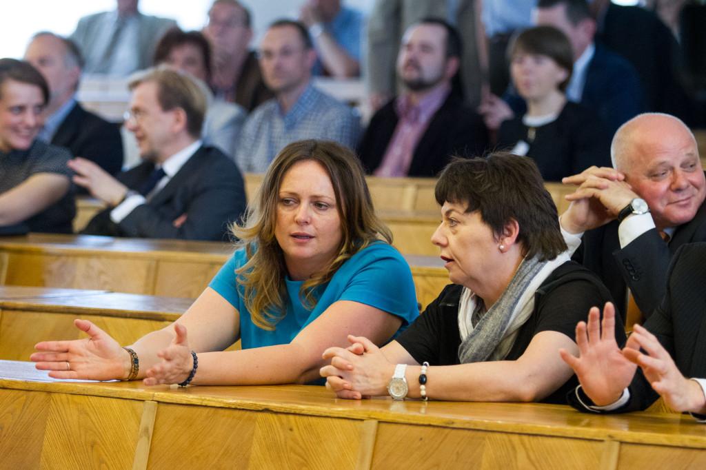 Joanna Skrzydlewska na posiedzeniu Senatu Politechniki Łódzkiej