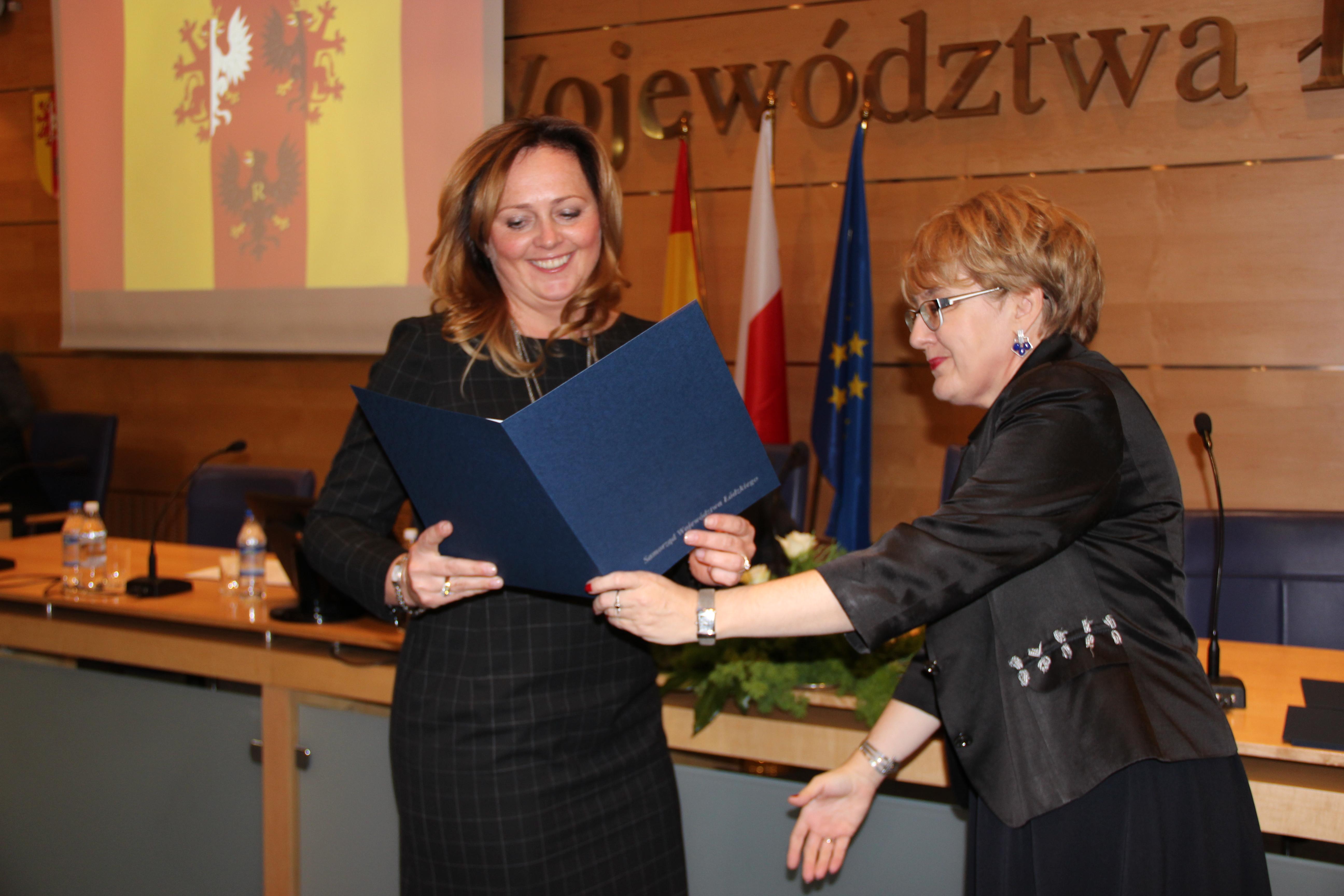 Joanna Skrzydlewska podczas pierwszej sesji Sejmiku